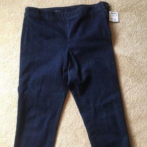 Pants - Stretch Side Zip Jean Capris
